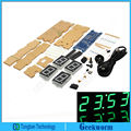 DIY DS3231 EC1621 Rotação Relógio Eletrônico LEVOU & Acrílico Kit Shell (Verde)