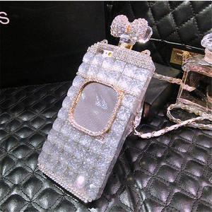 Image 3 - XSMYiss Samsung S20 S8 S9 S10 artı S10E not 10 artı 8 9 elmas taklidi ayna parfüm şişesi yumuşak telefon kılıfı arka kapak