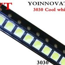 50 шт./лот 3030 6V холодный белый лучшего качества