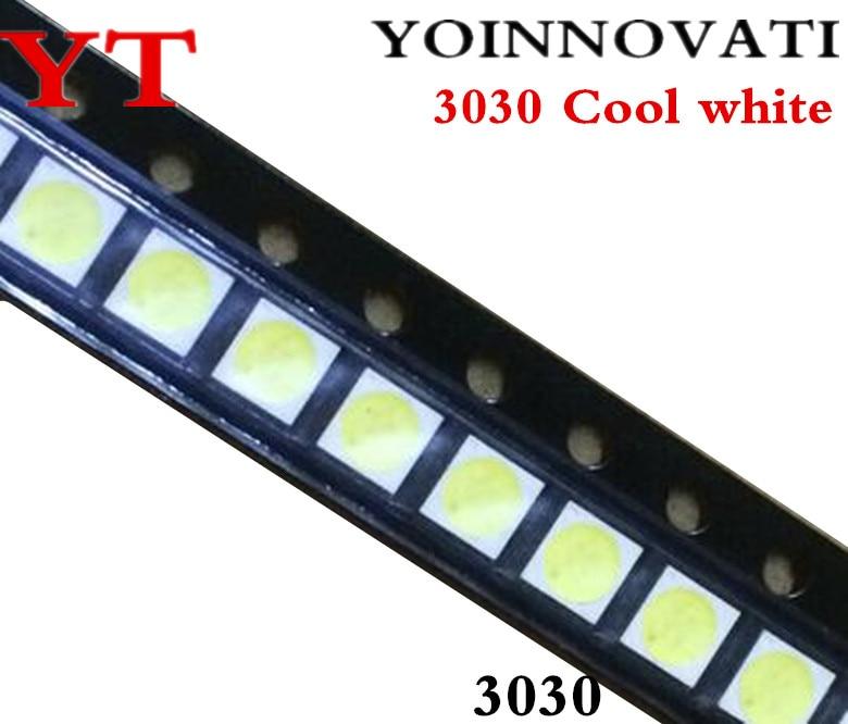 50pcs/lot 3030 6V Cool White Best Quality