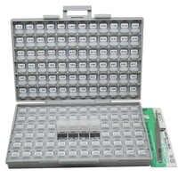 AideTek 表面実装 0805 1% 抵抗ボックス organizzation 収納キット 10 M オーム 100 pc/値 14400 個で盛り合わせプラスチック R08E24100