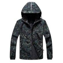 4XL-9XL Men Big Size Camouflage Hooded Jacket Spring Autumn Male Casual Windbreak Outwear Varsity Parkas Bomber Thin Coat CF16