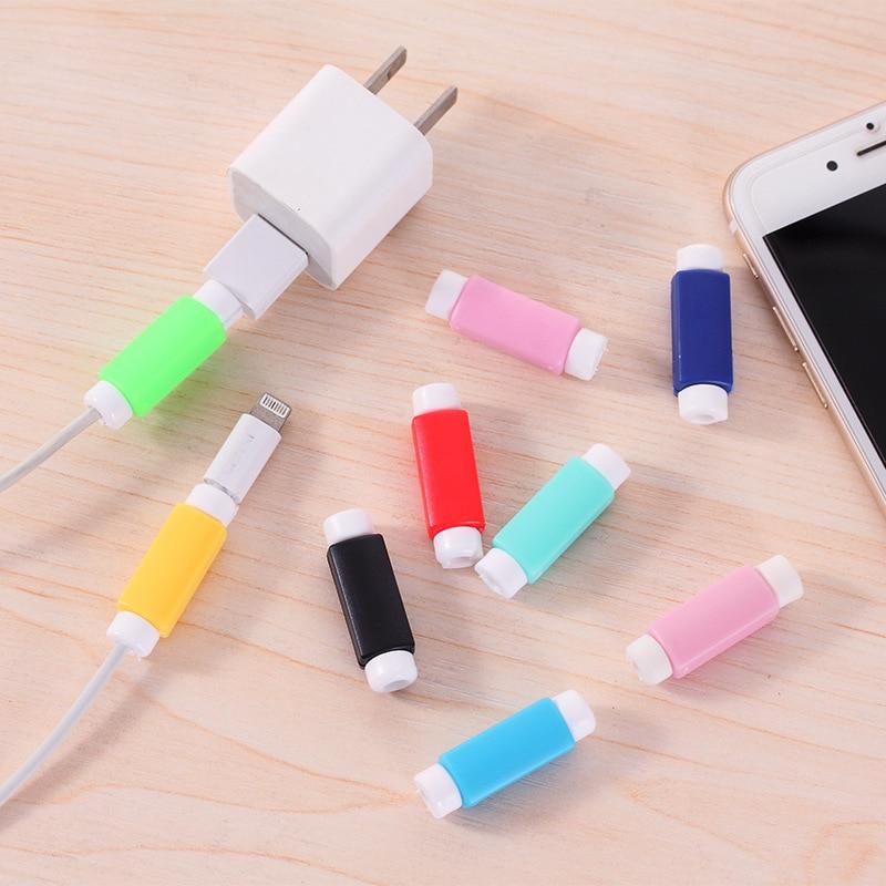 Cabo protetor de linha de dados cores cabo protetor caso protetor longo tamanho cabo winder capa para iphone usb cabo de carregamento