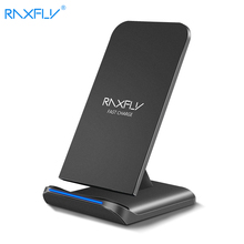 RAXFLY 10W QI cargador inalámbrico para iphone 11 XR 8 Plus carga rápida para Huawei P30 Pro cargador inalámbrico de teléfono para Samung S10 S9