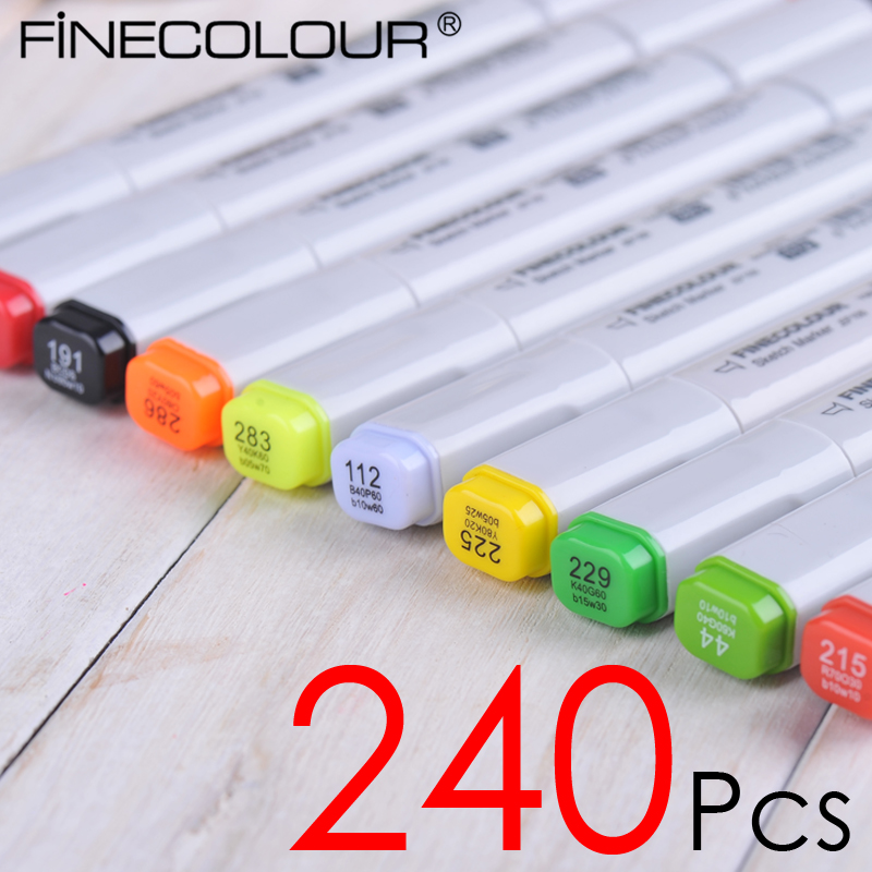 240 P Colors self-selection set Finecolour-One Marker Pen commonly used Sketch marker a markers 48 p colors self selection set comby800 marker pen commonly used sketch marker a markers