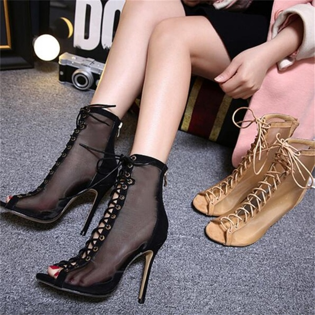 DiJiGirls new sexy fetish addiction fish mouth Roman style fashion High heels sandals shoes woman Zapados Mujer Sapatos banquet