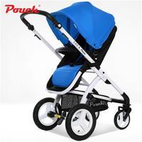 Чехол E89 Детские Коляски 2 в 1 широкие поля складной коляска высокого пейзаж складная детская коляска с сумка шоппер для младенческой