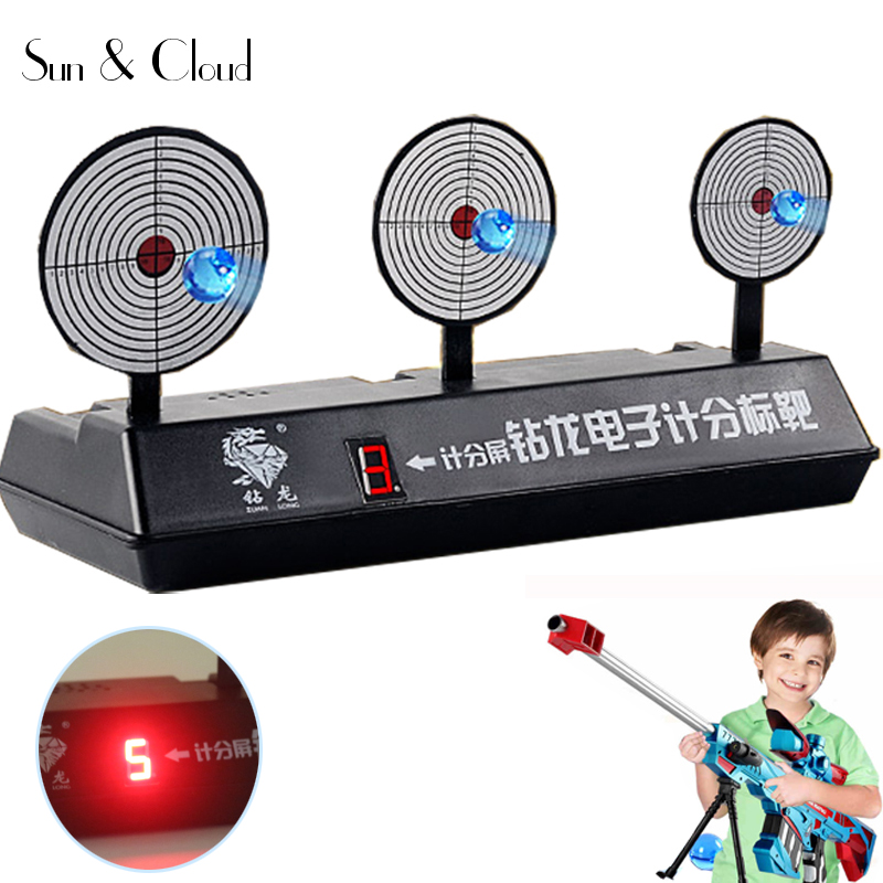 Electronic Scoring BB Bullets Aim Target Automatic Reset Portable Shooting Training Device Case for NERF Water