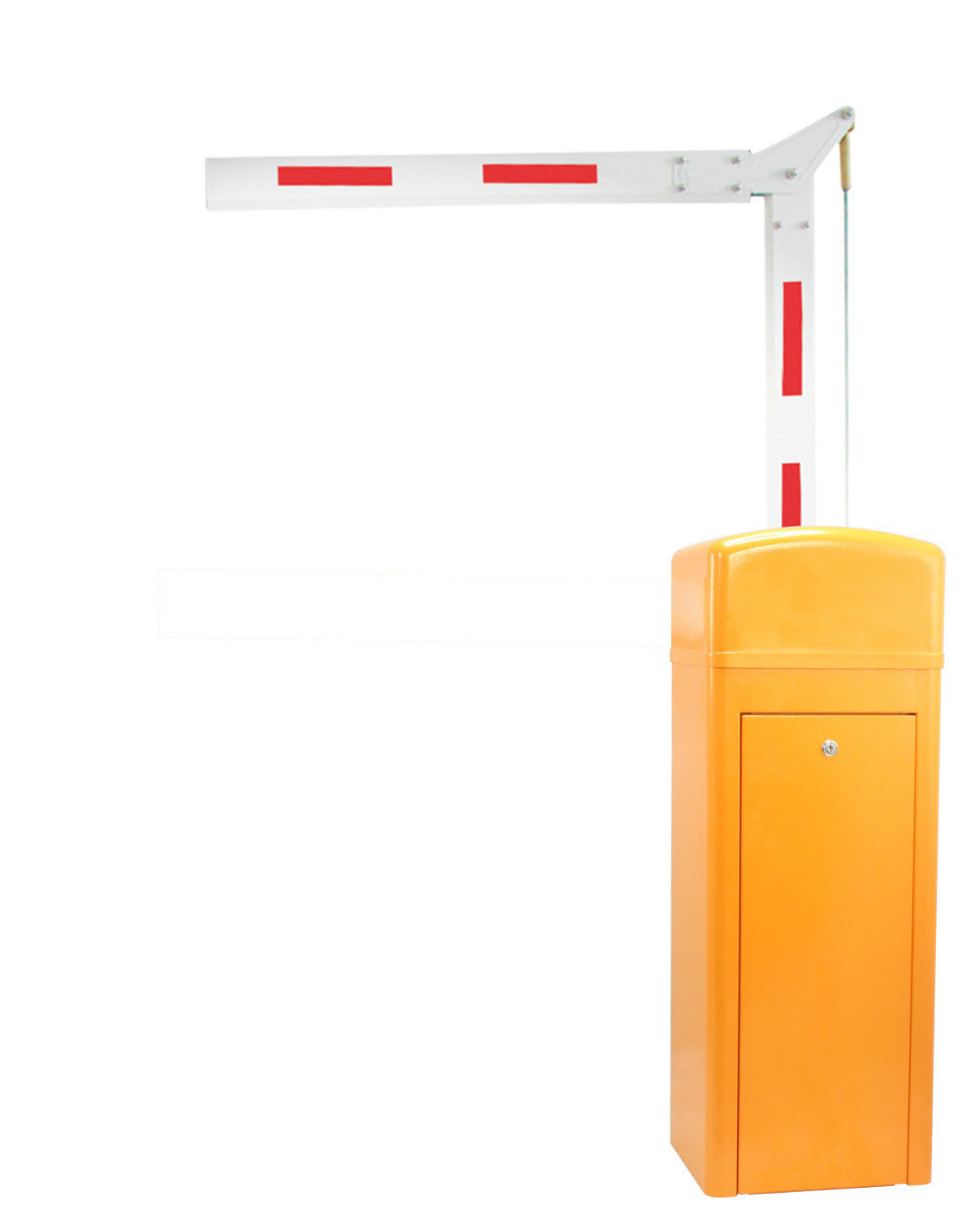 Automatic Barrier Gate System with articulated arm for parking access control electric parking barrier boom gate with high speed and compatible with other system