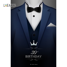 Laeacco Suit 30th 50th Birthday Party Wallpapers Of Photographic Backgrounds Personalized Photography Backdrops For Photo Studio