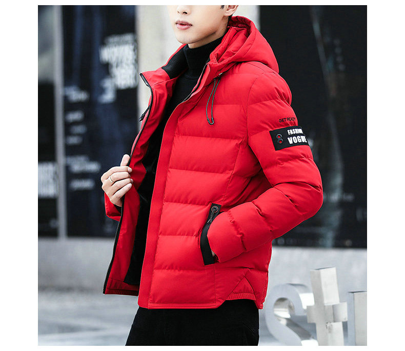 drop shipping New Fashion Men Winter Jacket Coat Hooded Warm Mens Winter Coat Casual Slim Fit Student Male Overcoat ABZ82 6