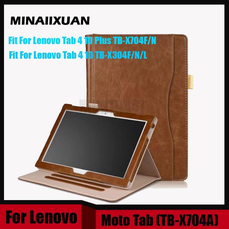 Case for Lenovo Tab 4 10 TB-X304L TB-X304F TB-X304N PU Leather Case for Lenovo Tab 4 10 Plus TB-X704F TB-X704N TB-X704L +Gift чехол для lenovo tab 4 10 1 tb x304l tb x304f g case executive темно синий