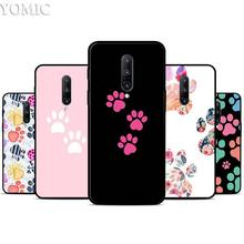 Dogs are girls best friends Dog paw Silicone Case for Oneplus 7 7Pro 5T 6 6T Black Soft Case for Oneplus 7 7 Pro TPU Phone Cover