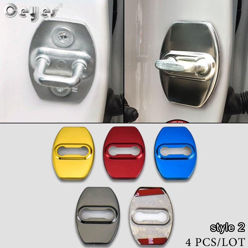Ceyes רכב סטיילינג דלת מנעול מגן עטיפות מקרה עבור טויוטה קורולה Rav4 יאריס C-hr C HR CHR Auris נח אוטומטי אביזרי 4 pcs