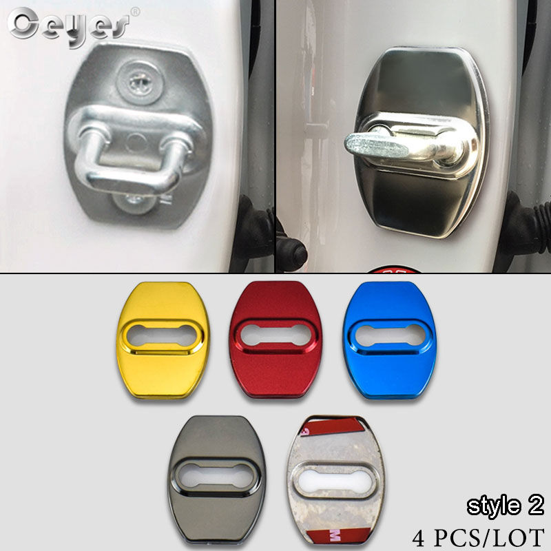 Ceyes Car Styling Door Lock Protective Covers Case For Toyota Corolla Rav4 Yaris C-hr C HR CHR Auris Noah Auto Accessories 4pcs