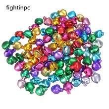 100 шт./лот, цветные Свободные железные шарики, маленькие колокольчики, подвески для рождественских украшений, поделки своими руками, аксессуары ручной работы, горячая Распродажа