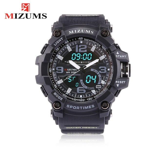 668e828849a1 Mizums marca deportiva reloj de pulsera reloj de cuarzo militar resistente  al agua relojes de moda