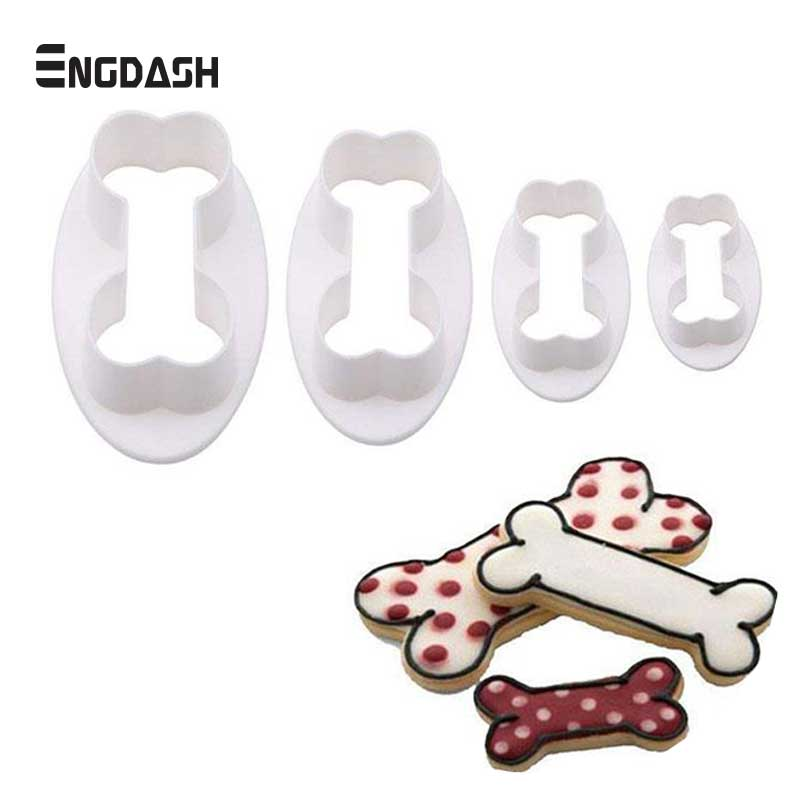Home & Garden Trend Mark Engdash 4pcs/set Bones Shaped Cookie Cutters Plastic Cake Fondant Cookie Mould Kitchen Diy Cake Decorating Tools High Quality