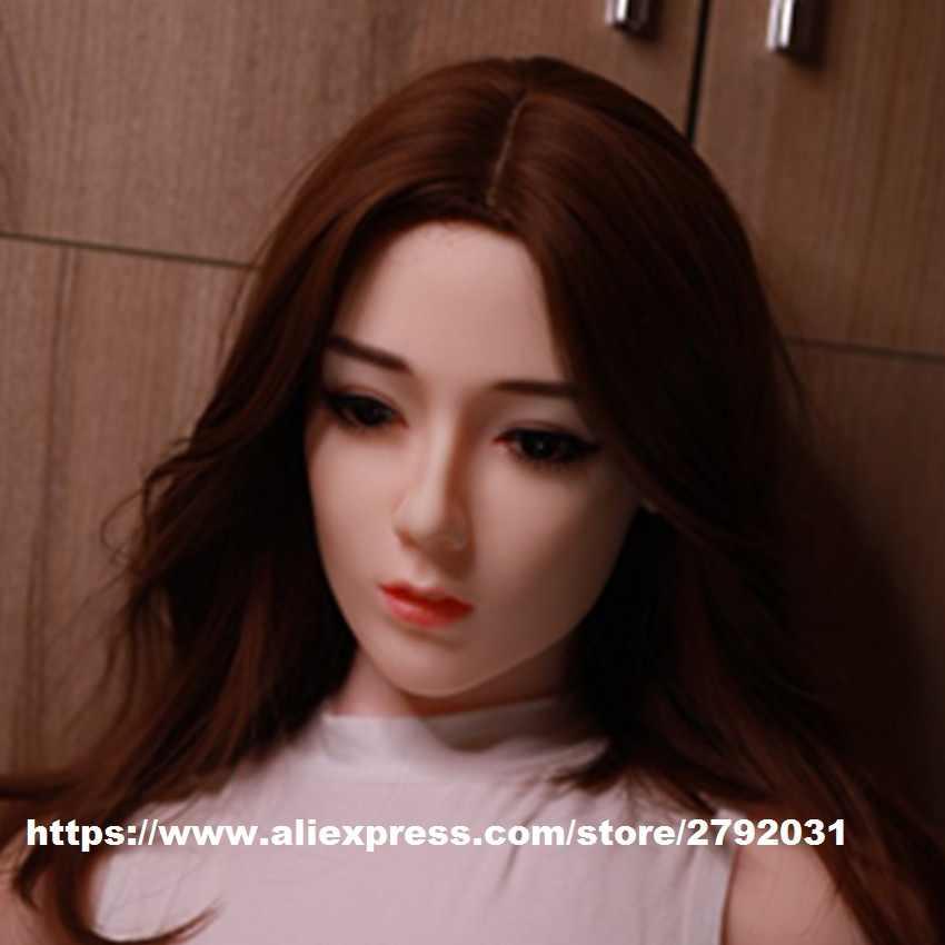 Nyata Silikon Seks Kepala Boneka Cocok Seks Boneka Body 140 Cm Sampai 175 Cm untuk Pria Dewasa Masturbasi Manusia Hidup Seks mainan Seks Oral Kepala Boneka