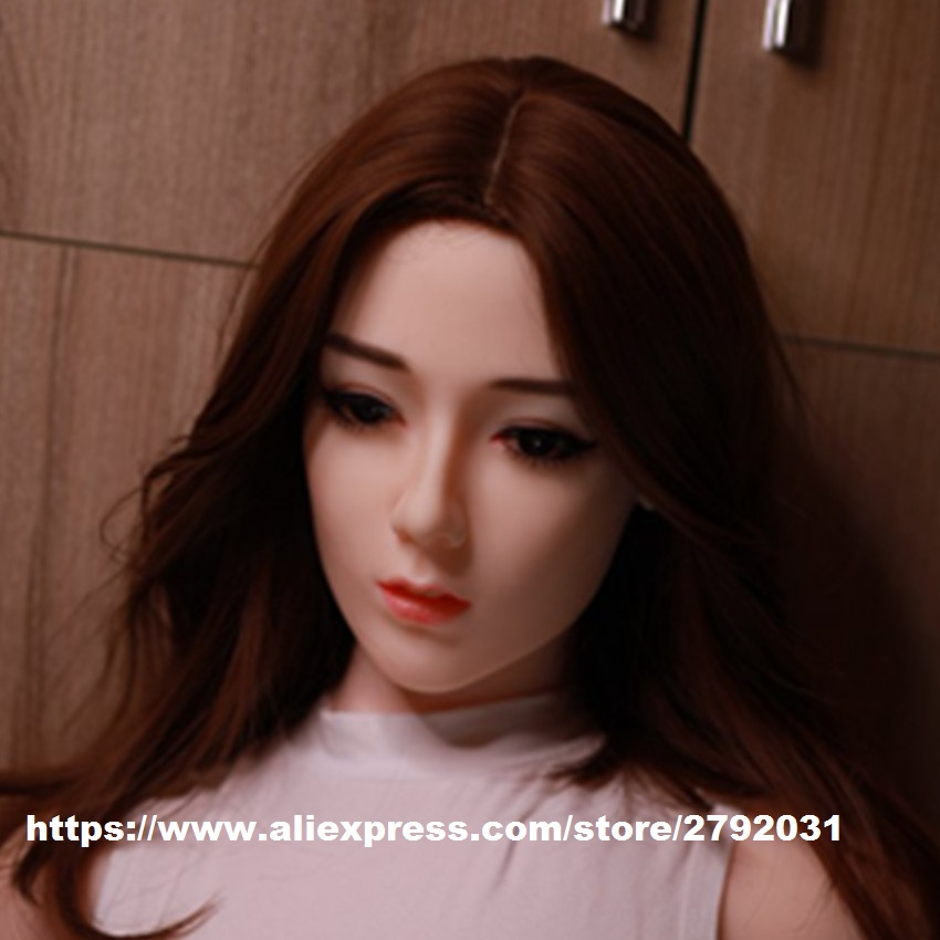 Real Silicone <font><b>Sex</b></font> <font><b>Doll</b></font> Head fit <font><b>Sex</b></font> <font><b>Doll</b></font> Body 140cm to <font><b>175cm</b></font> for Adult men Masturbate Lifelike <font><b>Sex</b></font> Toys Oral <font><b>Sex</b></font> <font><b>Doll</b></font> Head image