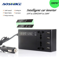 AoshikeCar Inverter Power DC 12V to AC 220V 4 USB Car Accessories Inverter Modified Sine Wave Laptop Adapter Converter Charger