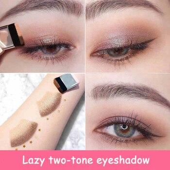 LAIKOU Double Color Eye Shadow Makeup Palette Glitter Palette Eyeshadow Pallete Waterproof Glitter Eyeshadow Shimmer Cosmetics 2