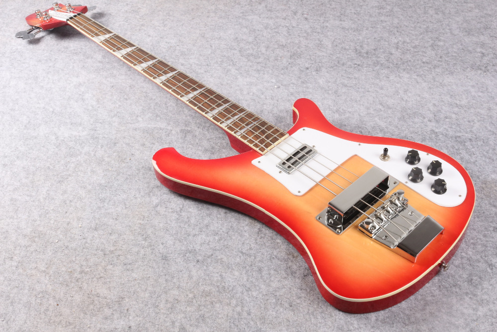 Rick 4003 model Ricken 4 strings sunburst color Real photo show OEM Electric Bass guitar  EMS free shipping