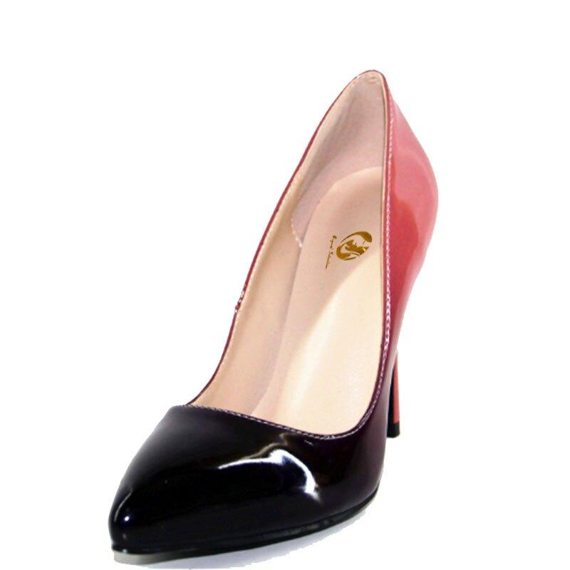 New Pompes La Concise Mince Initiale Talon Plus Haut Femmes 10 Mode Pointu Us Femme Bout Taille Chaussures Gradient 5 4 L'intention Ef0343 S5q44