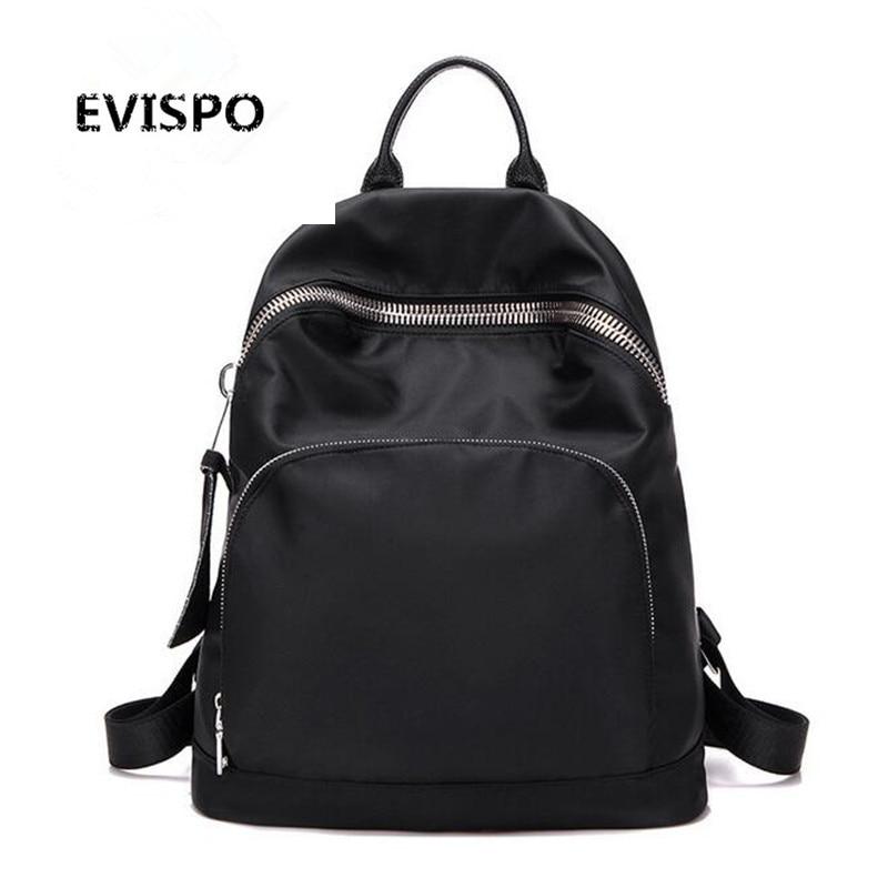 EVISPO New 2016 Women Backpack Waterproof Nylon Colors Lady Women s Backpacks Female Casual Travel bag