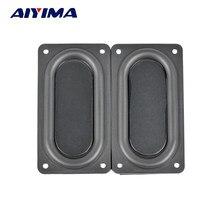 AIYIMA – panneau vibrant en acier inoxydable 5090, 2 pièces, Film de basse, haut-parleur passif, diaphragme vibrant, DIY, 9050