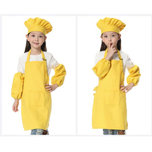 Painting Apron Children Chef-Set LOGO Printed Cotton Canvas