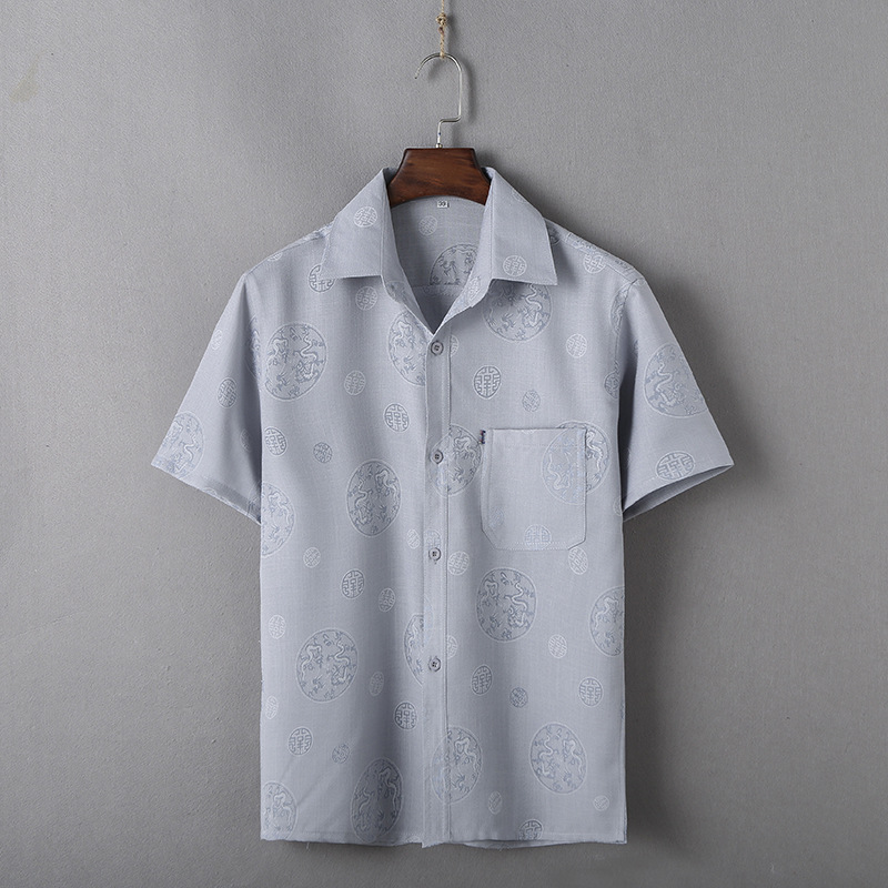 Summer Tang Costume Cotton Linen Wing Chun Shirt Traditional Chinese Kung Fu Tai Chi Clothing Men Short Sleeve Garment M-XXXL