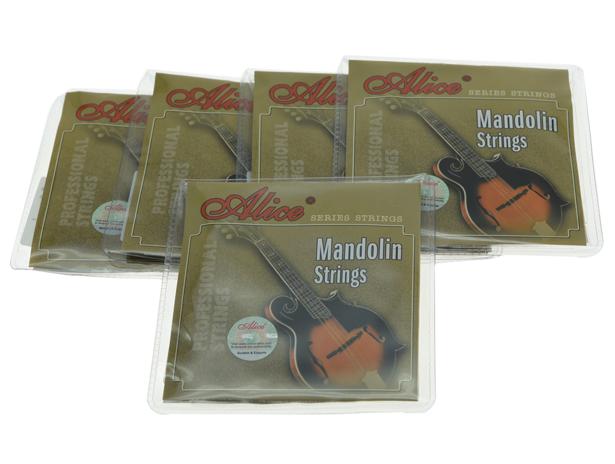 5 Sets Alice Brand Plated Steel Mandolin Strings Coated Copper Alloy Wound String 5 sets alice clear nylon classical guitar string normal tension silver plated copper wound strings