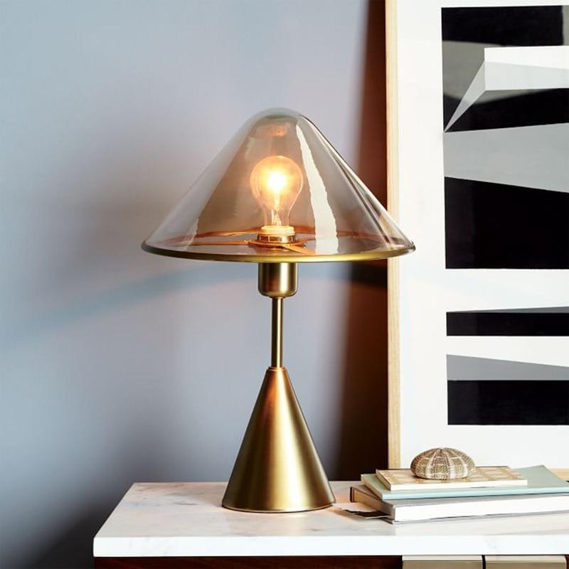 Creative glass desk lamp study eye protection living room bedroom bedside hotel nordic desk lamp art decorative lamps za 421727