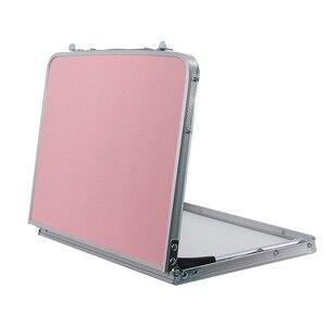 Image 2 - Mesa de ordenador plegable escritorio portátil rotativo mesa de cama para ordenador se puede levantar Escritorio de pie muebles portátiles para el hogar
