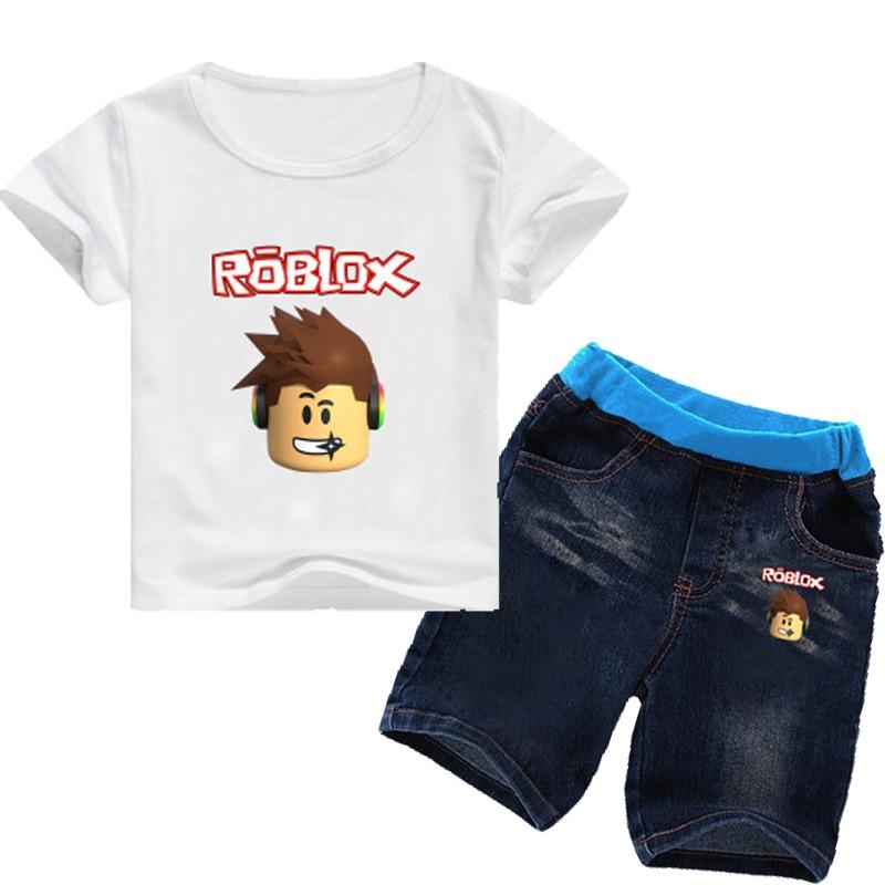 599c788fa Aliexpress.com   Buy Game Roblox Character Kids Clothes Cartoon T ...