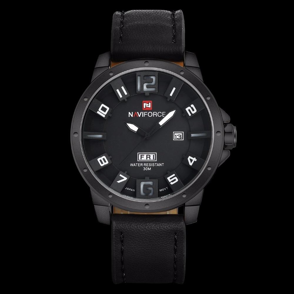 Luxury Brand NAVIFORCE Men Watch Quartz Date Military Sports Watches Men's Clock Casual Leather Wrist Watch relogio masculino 7
