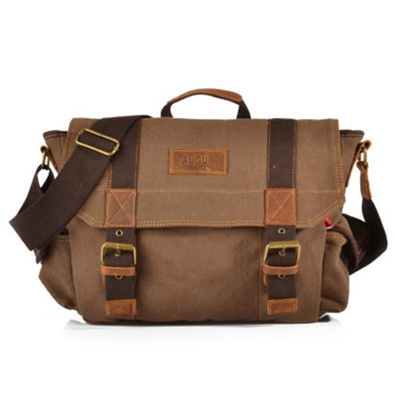 2018 Canvas Multi-function Crossbody Bag Men Military Army Vintage Messenger Bags Postman Large Shoulder Bag Office Laptop Bag