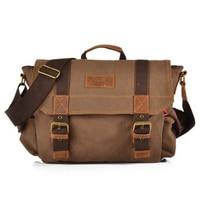 2018 Canvas Multi function Crossbody Bag Men Military Army Vintage Messenger Bags Postman Large Shoulder Bag Office Laptop Bag