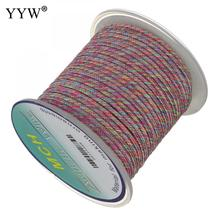 YYW Multi Color Nylon Cord With Plastic Spool Nylon Cord Wire Roll Thread String Rope Bead Diy Braided Bracelet Necklace Making yyw 0 15mm 2 yarn jewelry diy making cord thread silk beading thread pearl string 900m spool nylon cord costume jewelry thread