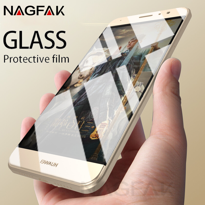 NAGFAK Anti-Scratch Tempered Glass For Huawei P10 P9 Lite Plus NOVA2 Full Screen Protector For Honor 9 6X 6C 7X V10 Glass Film