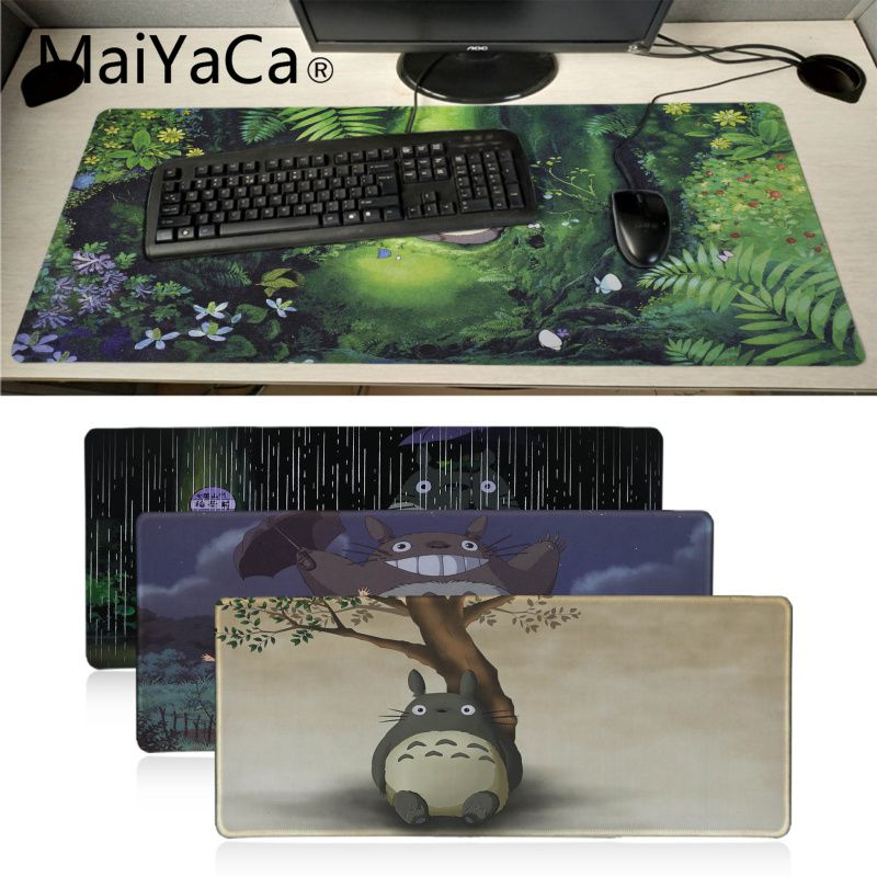MaiYaCa Hot Sales Anime Totoro And Friends Laptop Gaming Mice Mousepad BIG SIZE Rubber Game Mouse Pad