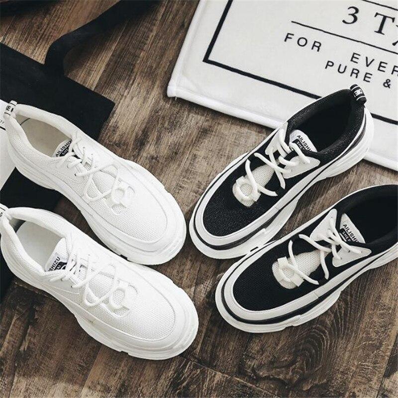 Mode Semelles De 2 Épaisses Casual Printemps Dentelle Blanc Avec Dames Femmes À Plat Doux Chaussures Nouveau 1 Noir Croix wxWRStpw