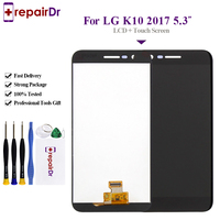 ORIGINAL Display For LG K10 2017 LCD Touch Screen Digitizer + Frame Tested For LG K10 2017 Lcd Screen M250 M250N M250E Display