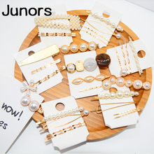 Horquillas de piedra de perla de metal vintage para mujeres boda Clips de pelo joyería de moda 2019 accesorios de diseño de peinado joyería de lujo