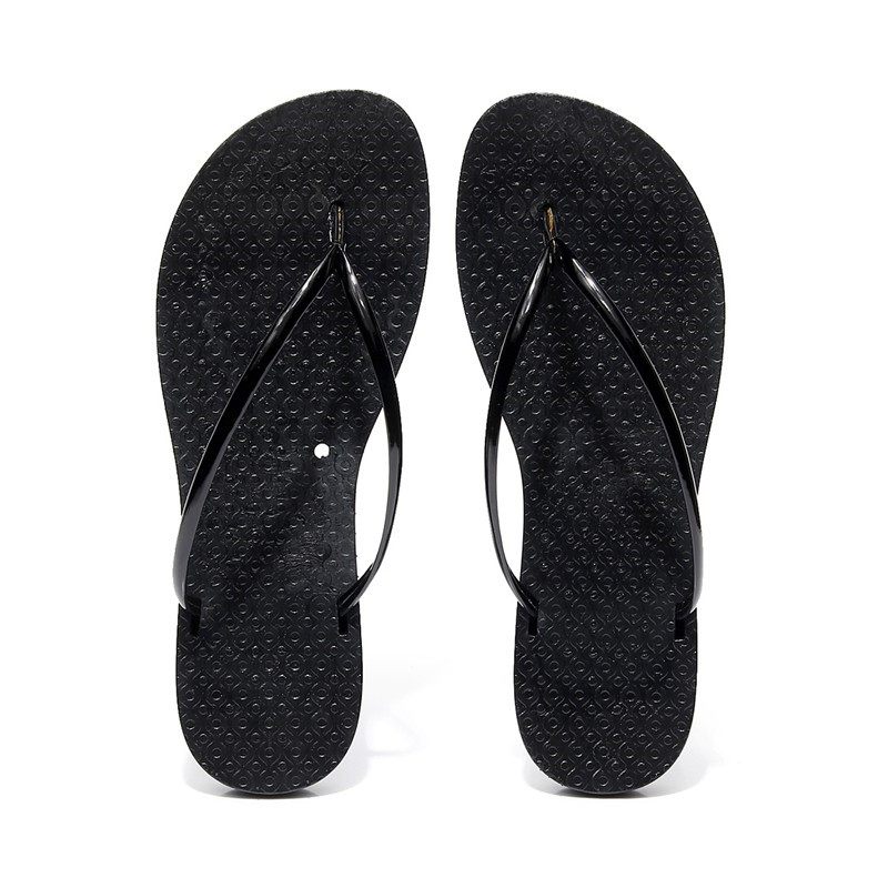 9cd083db6715 YMECHIC 2018 Casual Beach Seaside Flip Flops Girl Lady s Flat Heel Red  White Black Summer Slippers Women Slides Concise Sandals-in Slippers from  Shoes on ...
