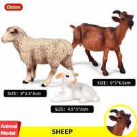 Oenux animaux de ferme Simulation Animal mouton Figurine chèvre Ram agneau Figurine Action volaille modèle éducatif Collection jouets cadeau