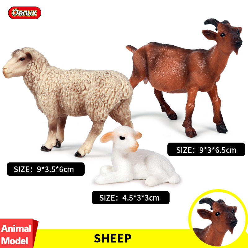Simulation Wildlife//Zoo//Farm Animal Model Figure Goat Kids Toy Collection