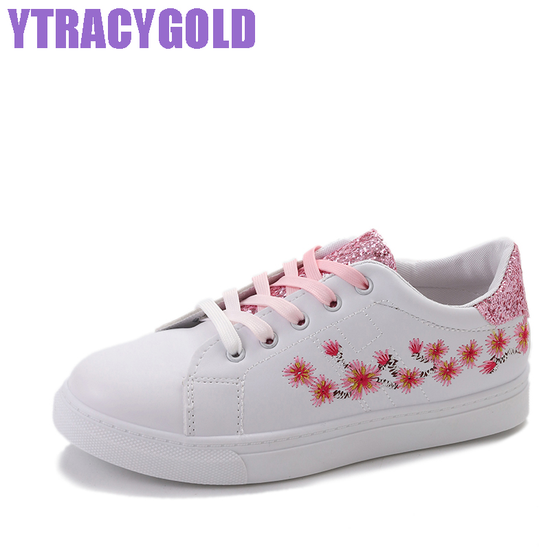 YTracyGold Embroidery moccasins women White casual shoes Female Soft Flats walking shoes espadrilles Ladies shoes Tufli Tenis