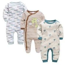 Kavkas 3 Pcs/lot Baby Boys Clothes Summer Long Sleeve Cotton